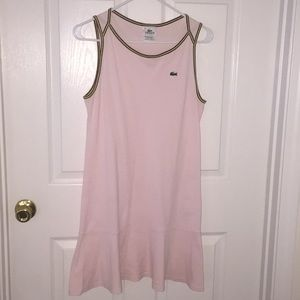 Lacoste Light Pink Tennis Dress Size 40